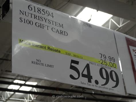 Buy Gift Cards From Costco - nutrisystem discount gift card