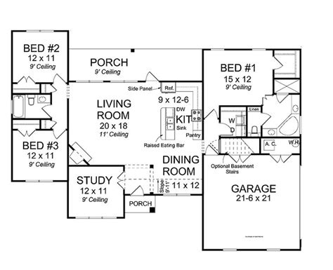 traditional house plans with open floor plan cottage