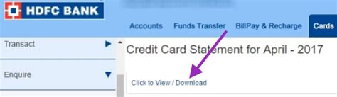 hdfc housing loan statement how to download hdfc credit card statement online
