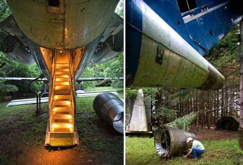 home plane boeing 727 airplane transformed into a fully equipped home