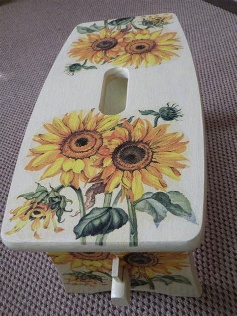 Decoupage Stool - 17 best images about decoupage furniture on
