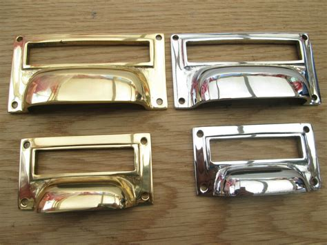 Drawer Label Holders by Solid Brass Drawer Cupboard Filing Cabinet Card Frame