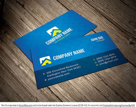 Business Card Design Templates Illustrator by Free Vector Business Card Template Free Vector In Adobe