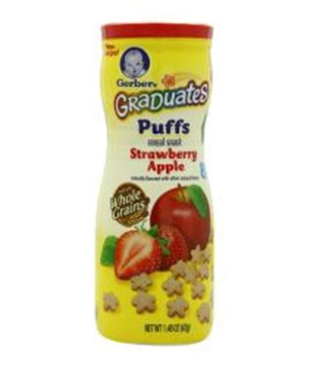 Gerber Puffs Graduates Cereal Snack Baby Blueberry 42 Gram gerber graduates puffs cereal snack apple cinnamon 42g
