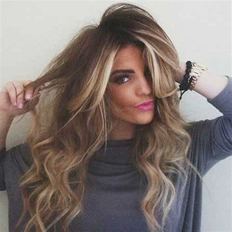 brown highlighted long hairstyles