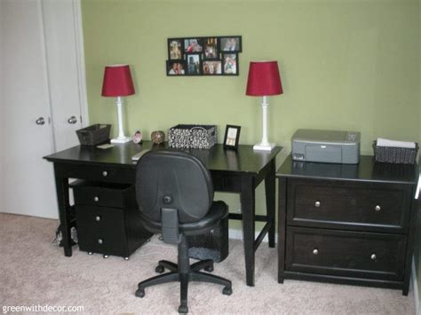 black bedroom desk green with decor the home office makeover reveal