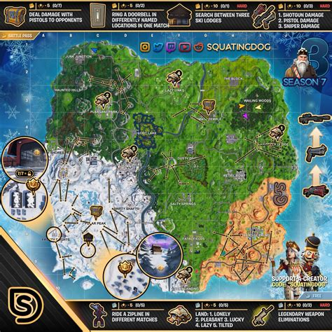 fortnite week 3 challenges fortnite sheet map for season 7 week 3 challenges