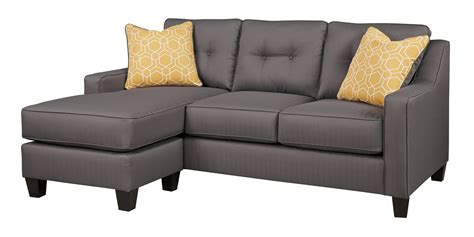 ashley furniture gray sofa ashley furniture aldie nuvella gray sofa chaise the