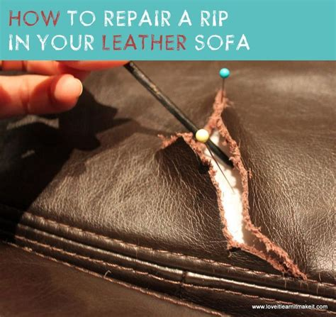 how to repair a small tear in leather couch how to mend tear in leather sofa www imagehurghada com