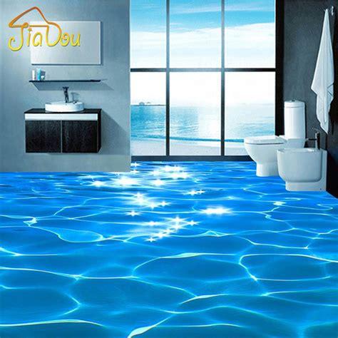 sea bathroom custom photo floor wallpaper 3d sea water ripples hotel