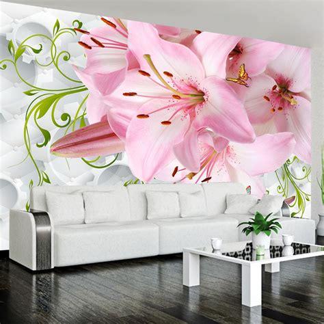 com祺 per da letto rom 225 ntico rosa lirio flores foto mural para dormitorio