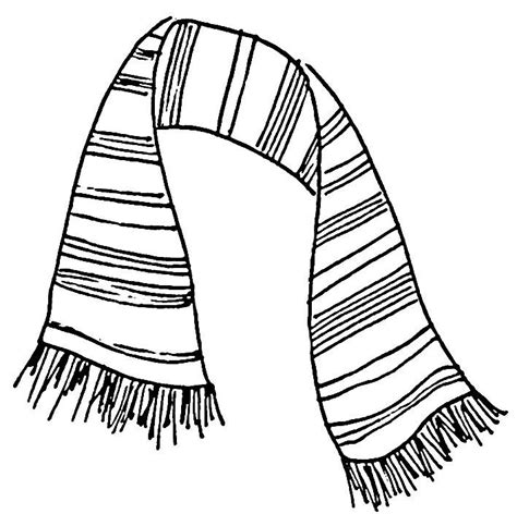 coloring pages of winter scarves best photos of scarf coloring page winter scarf coloring