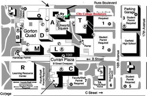 san jose city college map of cus maps directions mcphs invitations ideas