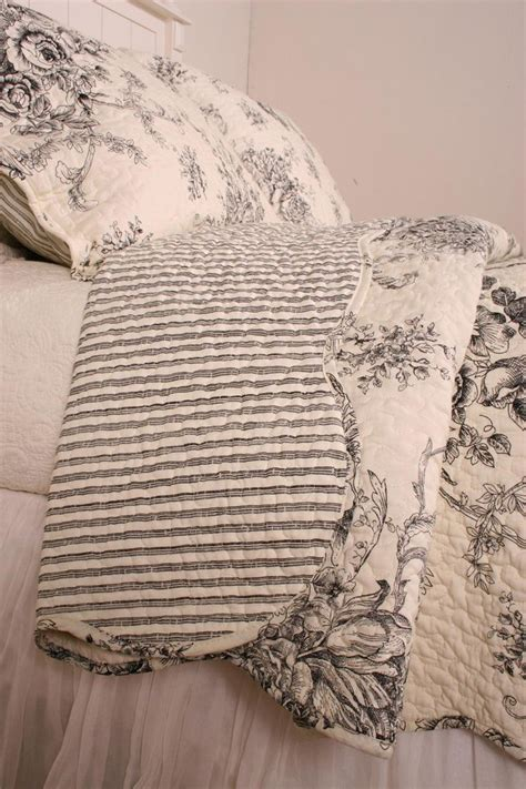 toile bedspreads and coverlets ballard french country black toile quilt quilts toile
