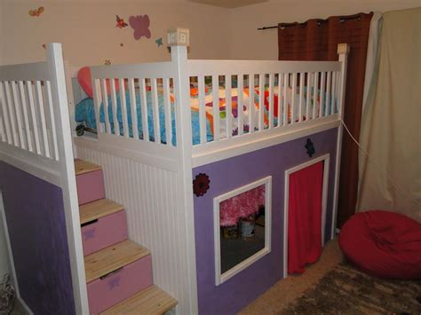 playhouse loft bed with stairs custom bunk beds with stairs custom playhouse bunkbed