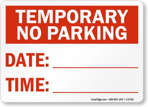 no parking signs template temporary no parking signs free shipping