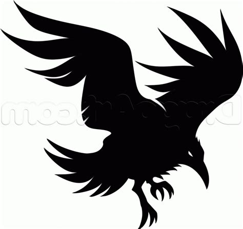raven tribal tattoo clipart tribal pencil and in color clipart
