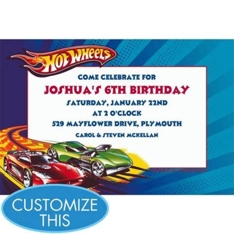 22 Best Images About Party Hot Wheels On Pinterest Free Printables Hot Wheels Party And Wheels Birthday Invitation Template