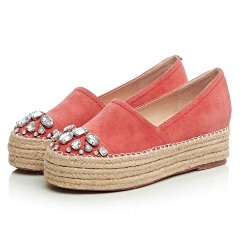 platform flats shoes 2016 espadrilles genuine leather platform
