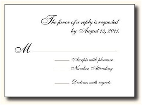 what to write on a blank wedding rsvp card 5 types of wedding rsvp card wording paperblog