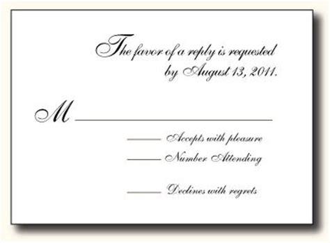 what to write on blank wedding rsvp card 5 types of wedding rsvp card wording paperblog