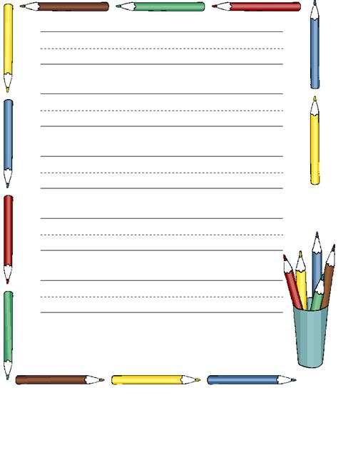 free printable writing paper dltk staff stuff msad 30