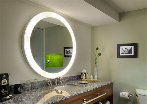 electric mirror bathroom radiance electric mirror tv bath spa peabody hotel store