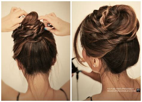 easy and quick hairstyles step by step dailymotion messy ballerina twist bun hairstyle holiday updo
