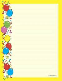 Birthday Stationery Templates Free by Photo Free Lined Stationery Templates Images