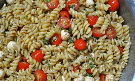 cold pasta perfect for summer caprese pasta salad