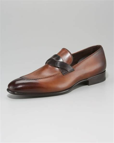 tom ford mens loafers tom ford cross loafer in brown for lyst
