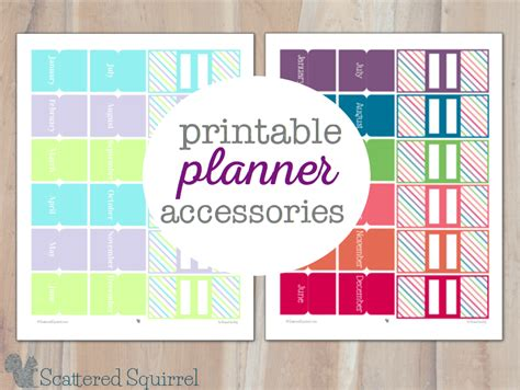 Printable Planner Accessories | pretty printable planner accessories personal planners