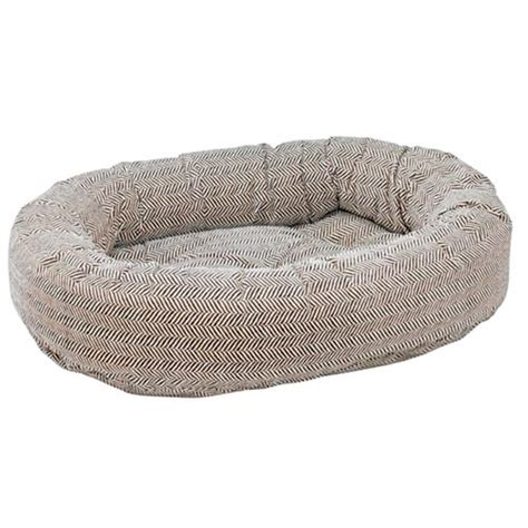 donut dog bed bowsers microvelvet donut dog bed herringbone dog beds