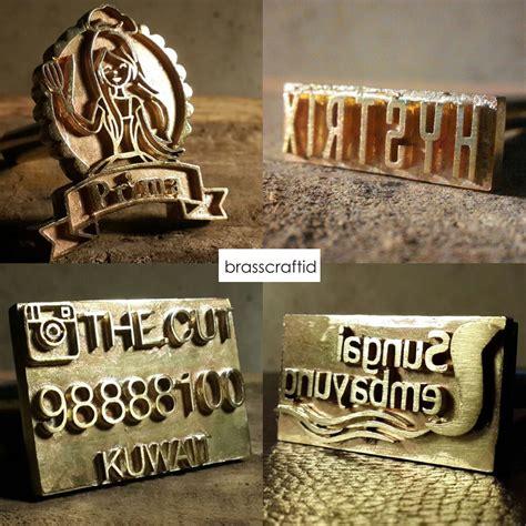 Plat Untuk Stempel Emboss jual stempel emboss st bakar bahan kuningan untuk branding logo brasscraftid