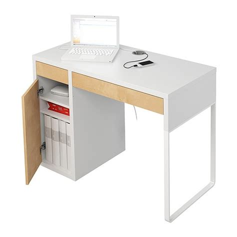 other home office study micke desk with cupboard