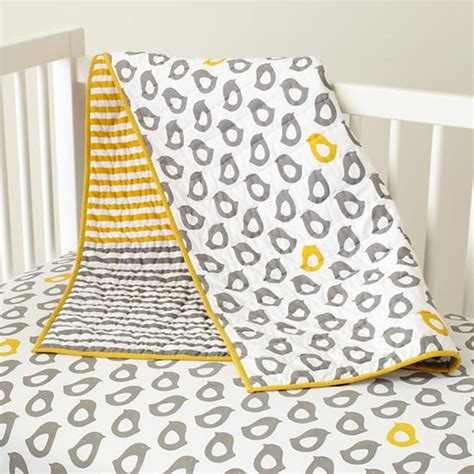 Baby Sheets Grey Chick Fitted Crib Sheet The Land Of Nod Land Of Nod Crib Bedding