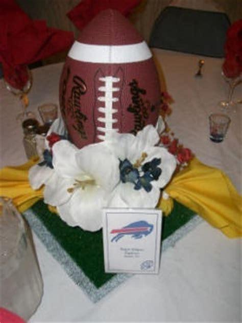 football wedding table centerpiece sports inspiration