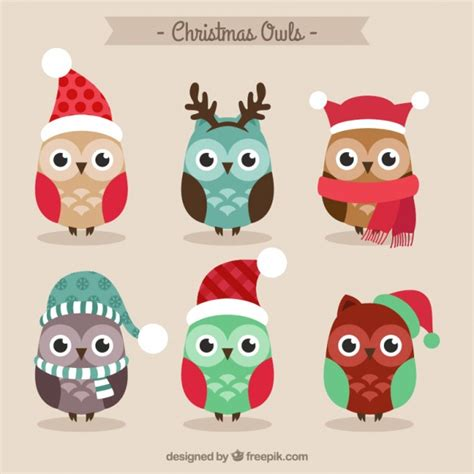 christmas owl pictures owls vector free