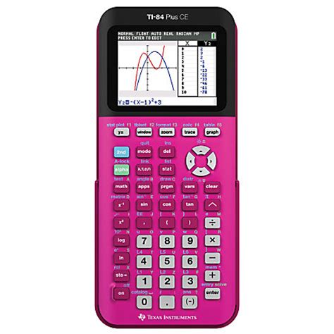 instruments ti 84 plus ce color graphing calculator