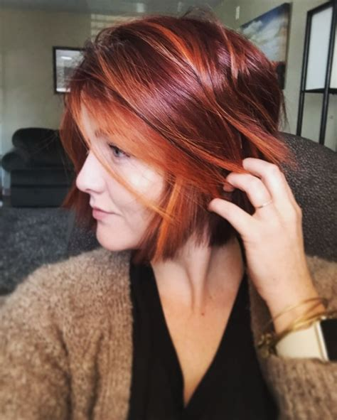 salon la vie highlights hair styling salon prom and 25 best ideas about red bob hair on pinterest short red