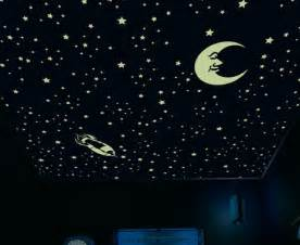 decorate your ceiling with glow in the stickers