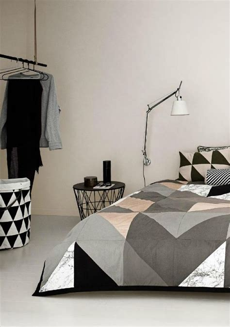 triangle bedroom design 30 timeless geometric and graphic bedding ideas digsdigs