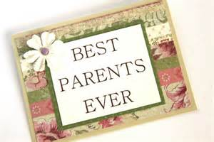 handmade card best parents thank you card i you