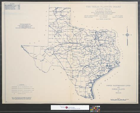 texas transmission lines map power transmission lines and power plants in texas side 1 of 2 the portal to texas history