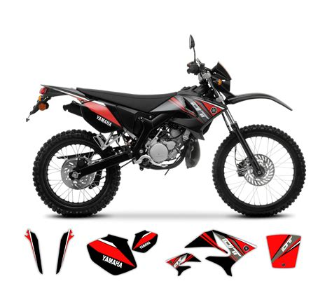 Yamaha Dt Aufkleber Set yamaha dt 50 x r replica graphics kit 2009 model tmx