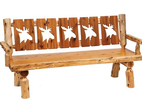 log cutting bench cedar 72 quot cut out back armrests log bench from fireside