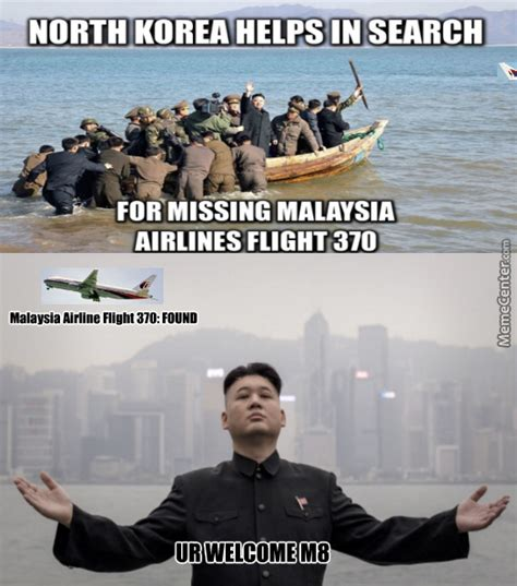 Malaysia Airlines Meme - malaysia airline flight 370 found by north korea by