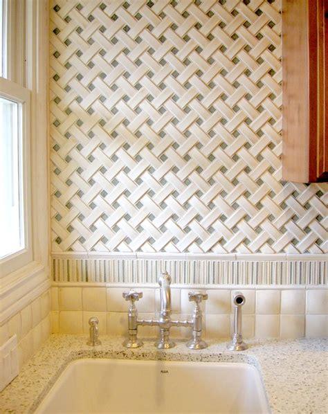 encore ceramics crescendo basketweave mosaic tile with