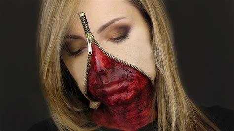 makeup tutorial two face beautifulyouworld unzipped zipper face makeup