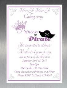 items similar to printable diy princess and pirate invitation on etsy